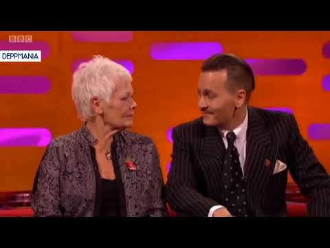 Johnny Depp and Judi Dench on Graham Norton  talking about their past movies together  ITA sub
