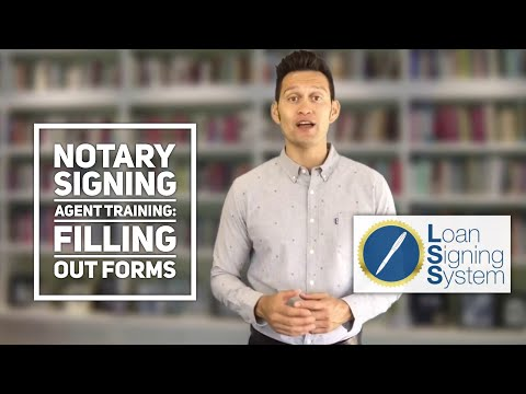 Introduction to Filling out Forms as a Notary Public Loan Signing Agent