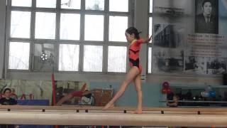 20140208 - Спортивная гимнастика. Койгельдина Арай. Бревно