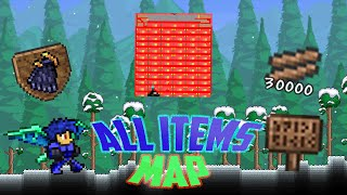 Terraria All Items Map V2 1.2.4 2016 IOS/ANDROID (EVERY SINGLE ITEM!!!)