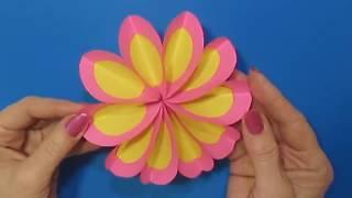 ''Подарок маме'' / Своими руками / Поделки с Цветная Бумага / Красивые цветы