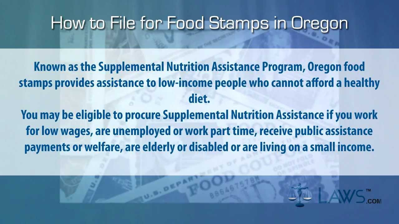 How To File For Food Stamps Oregon