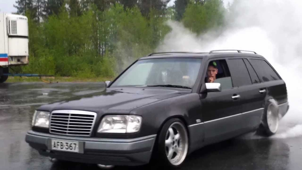 mercedes benz 300tdt burnout youtube