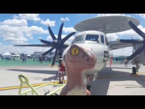 Vectren Dayton Air Show 2017 with Bob the Raptor
