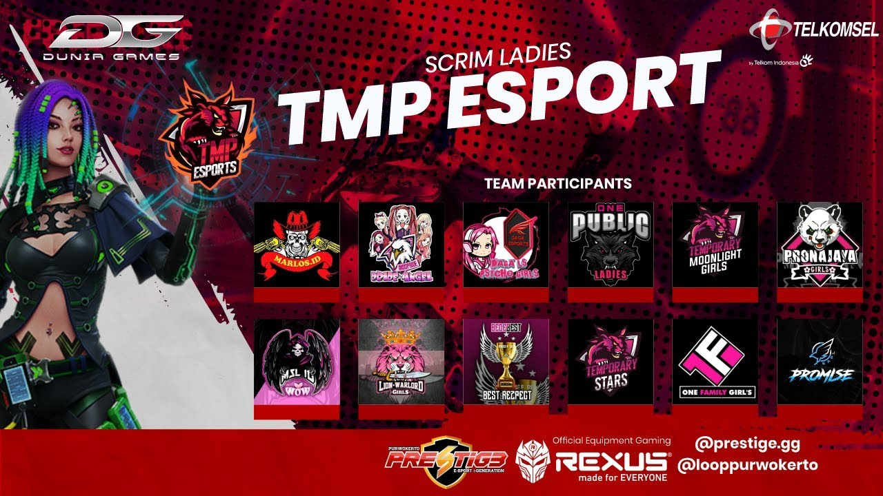 [LIVE] GRANDFINAL ONLINE TOURNAMENT FREE FIRE LADIES  OF TMP ESPORT | By PRESTIGE