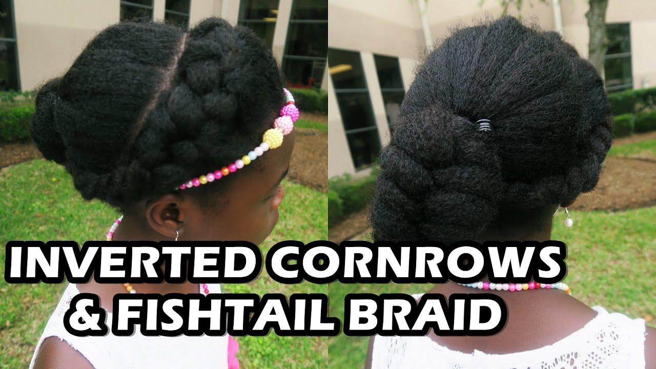 """Inverted Cornrow / FishTail Braid on Natural Hair """"Didi ..."""