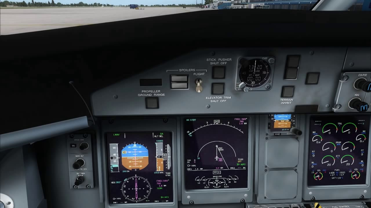 Majestic Software Dash-8 Q400 Quick Start-Up And Takeoff  Yutasknight 23:21  HD