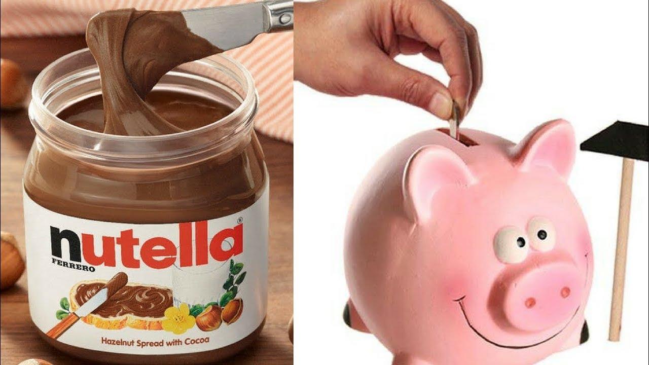 Salvadanaio Con Barattolo Della Nutella Riciclo Creativo Fai Da Te