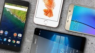 Microsoft Lumia 950 XL Vs iPhone 6s Plus Vs Galaxy Note 5 Vs Nexus 6P Comparison || Quick Reviews