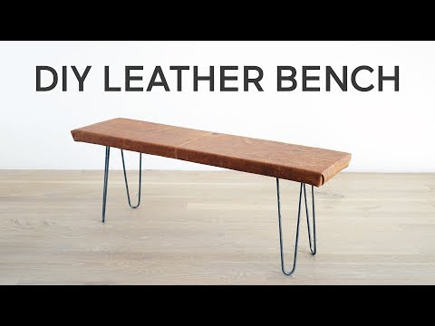DIY Leather Covered Bench | A Dwell Made Project