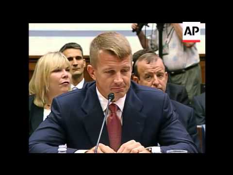 The founder of Blackwater USA is to testify before a House Oversight and Government Reform Committee