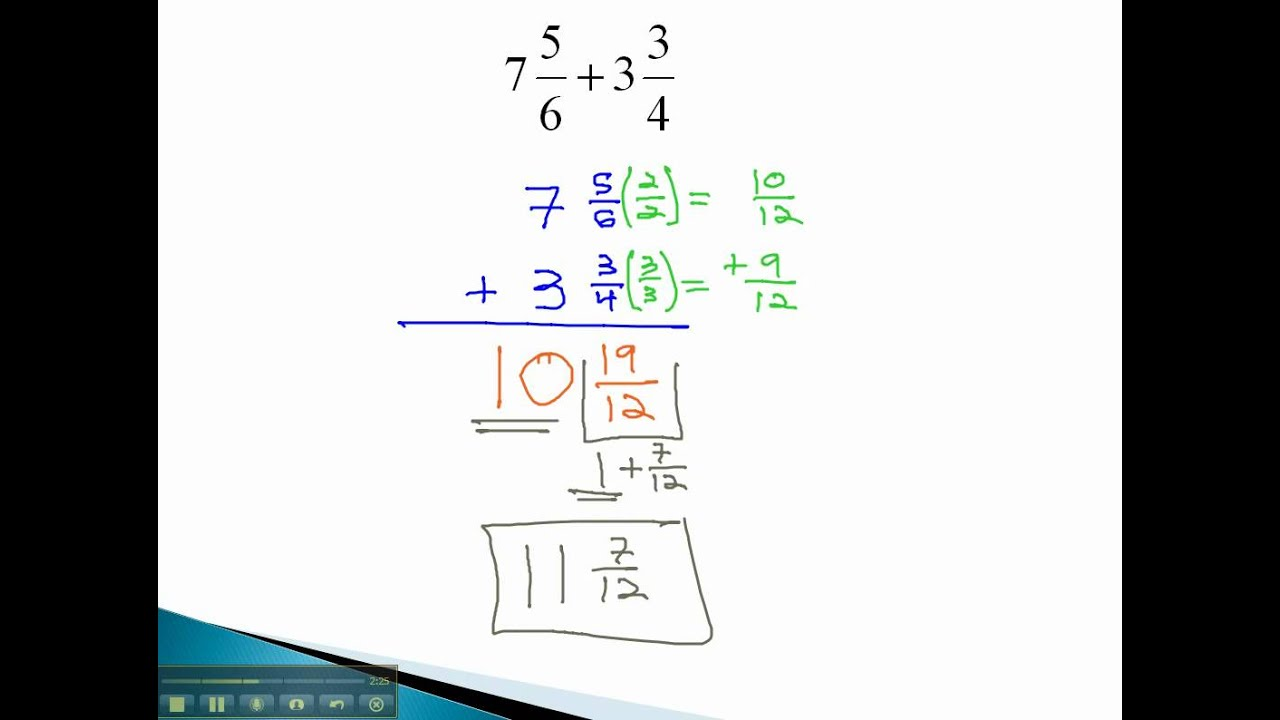 Mixed Numbers Add With Carrying How To Find The Lcm And Lcd Of Fractions  With Unlike