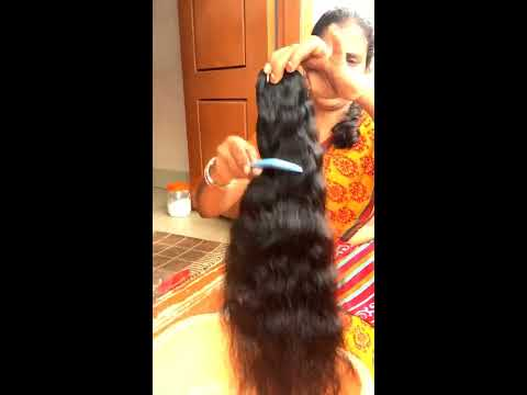 Indian Hair Extensions - 22 Inch Natural wavy bundle Opening