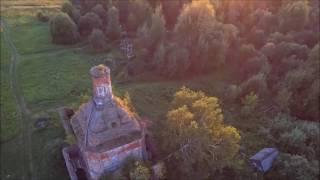 Одинокая церковь ... с квадрокоптера . Видео Для души!!!