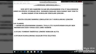 FARMING SIMULATOR 2017 TORRENT KURULUM