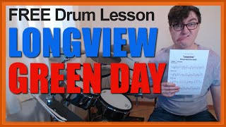 ★ Longview (Green Day) ★ FREE Video Drum Lesson | How To Play SONG (Tre Cool)