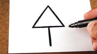 COMO Transformar Uma ⬆ Seta ⬆ em um Desenho Fácil, Truque Art Hacks