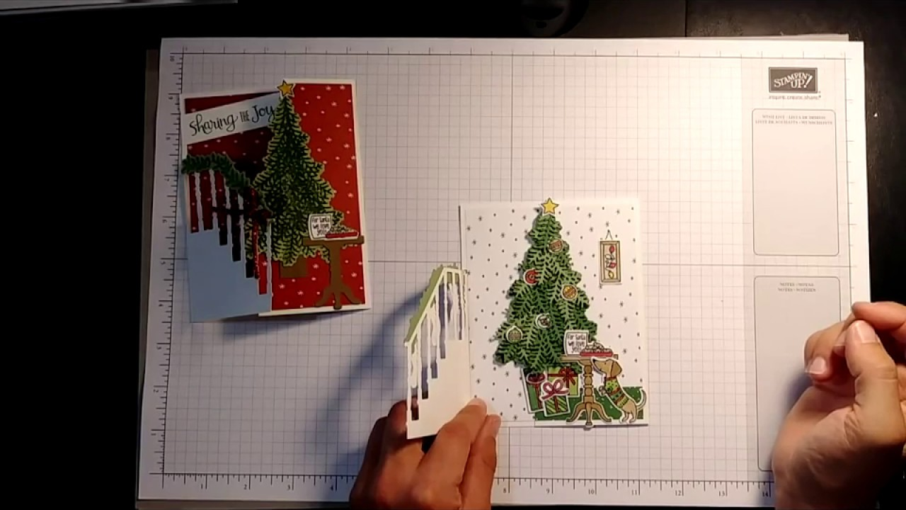 Stampin 39 Up Ready For Christmas Tri Fold Card Tutorial