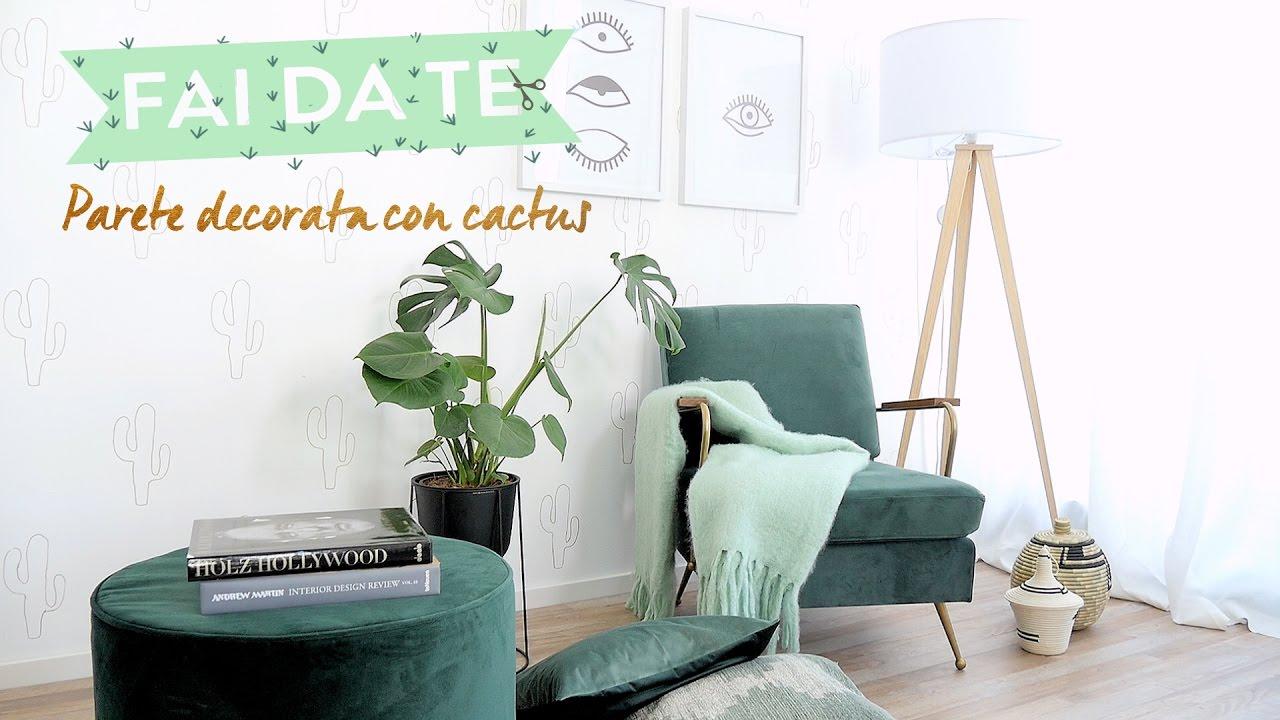 Stencil Per Pareti.Come Decorare Le Pareti Con Stencil A Forma Di Cactus Westwing