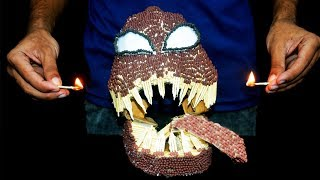 How to make Venom Matchstick Mask At home Burning Experiment