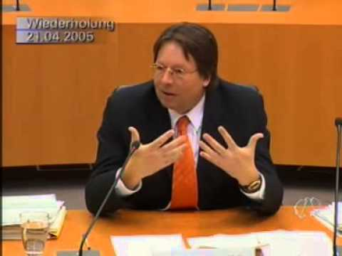 Zeugenaussage von MdB Ludger Volmer - 10 Jahre Visa-Untersuchungsausschuss (21.04.2005)