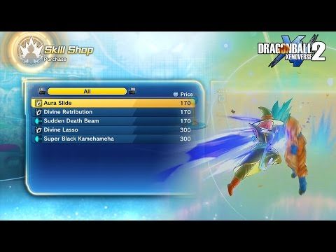 HOW TO GET THE NEW SKILLS IN DRAGON BALL XENOVERSE 2 (Divine Lasso, Aura Slide, Sudden Death Beam)