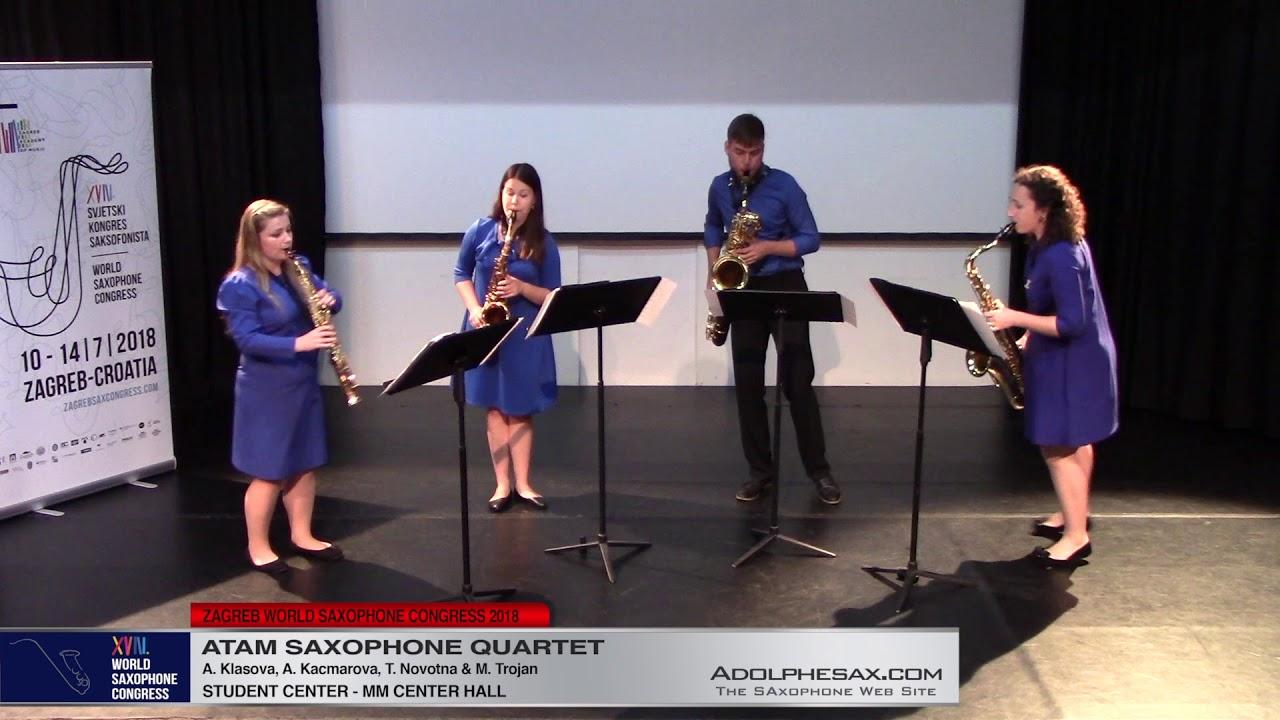 Folklorni? inspirace by Petr Wajsar   Atam Saxophone Quartet   XVIII World Sax Congress 2018 #adolph