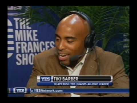 Mike Francesa talks to Tiki Barber - pt 1
