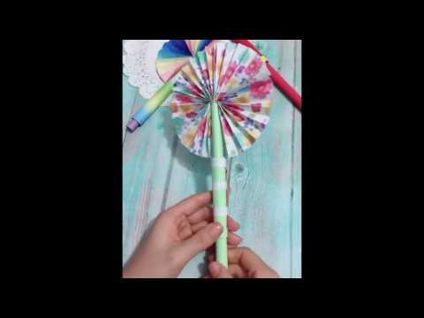 DIY Paper Fans for Summer