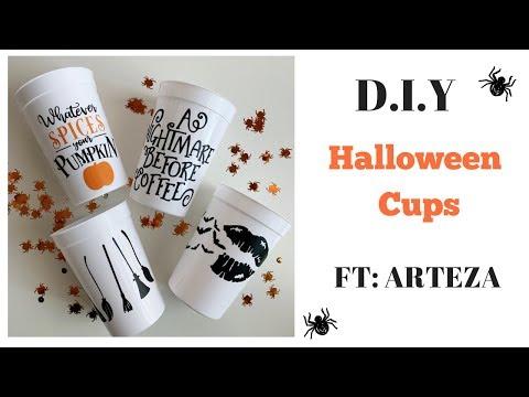 D.I.Y Halloween Cups FT: ARTEZA