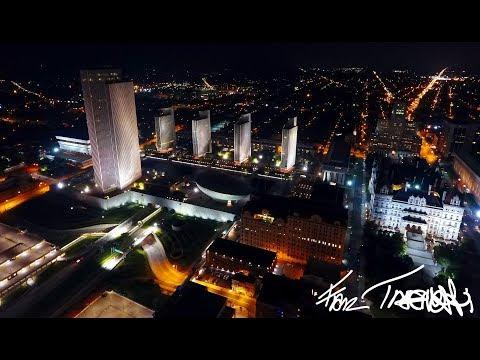 Empire State Plaza Albany NY at Night | Ultra HD 4K