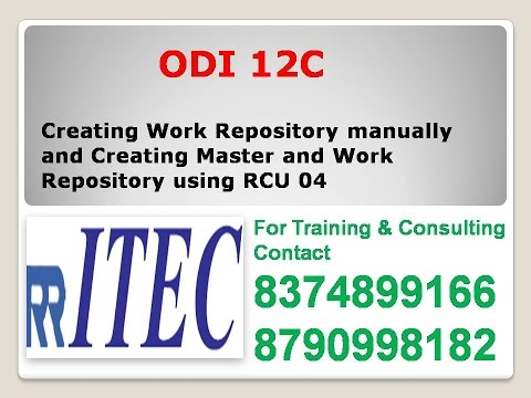 Odi Creating Work Repository manually and Creating Master and Work Repository using RCU 04