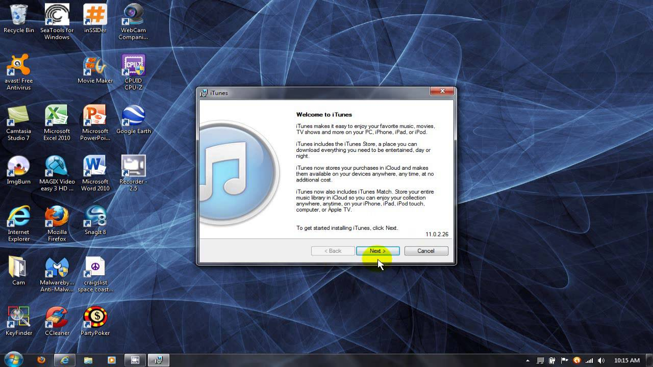 how to install itunes on windows 7 32 bit