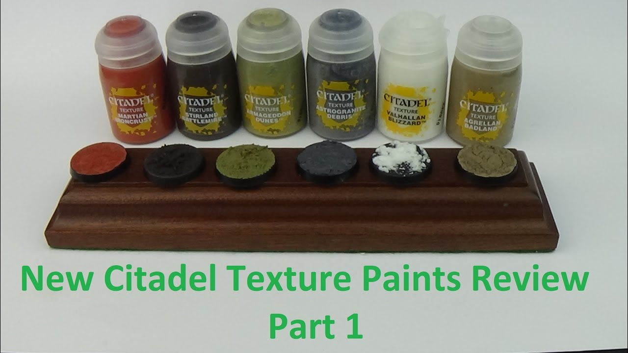 Games Workshop New Citadel Texture Paints Review Martian