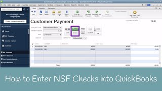 How to Enter NSF or Bounced Check in QuickBooks