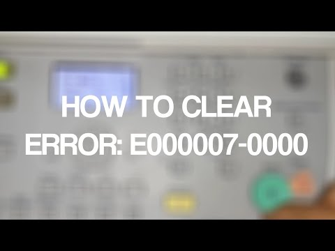 HOW TO CLEAR ERROR: E000007-0000 FOR Canon imageRUNNER 2320 IR2318L
