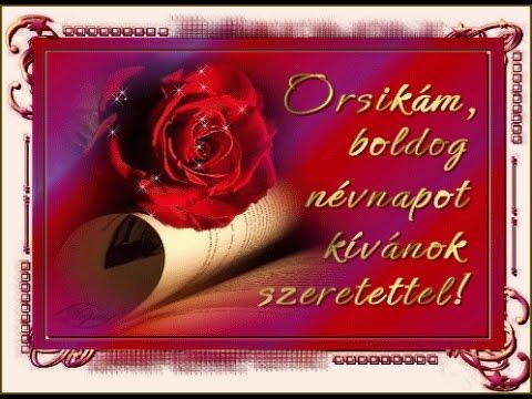 orsolya névnapi köszöntő Szívemből kívánok neked kedves Orsolya boldog névnapot HD   YouTube orsolya névnapi köszöntő