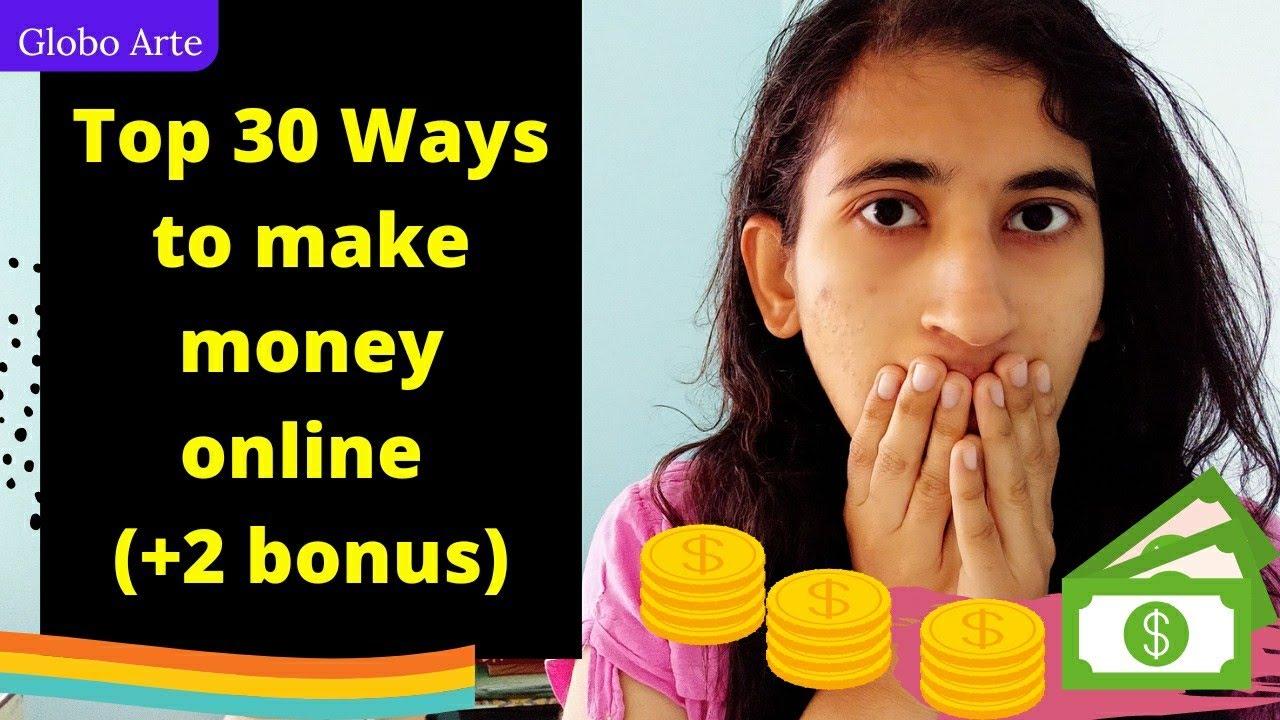 Top 30 Ways to make money online as an artist/designer