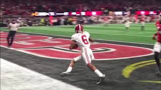 Tua Tagovailoa's game-winning touchdown pass in the national championship game