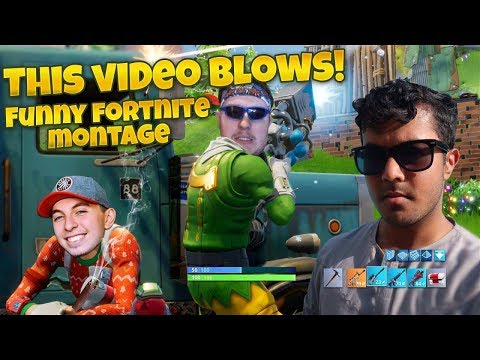 THE FUNNIEST FORTNITE MONTAGE ON YOUTUBE ft. The Fellas