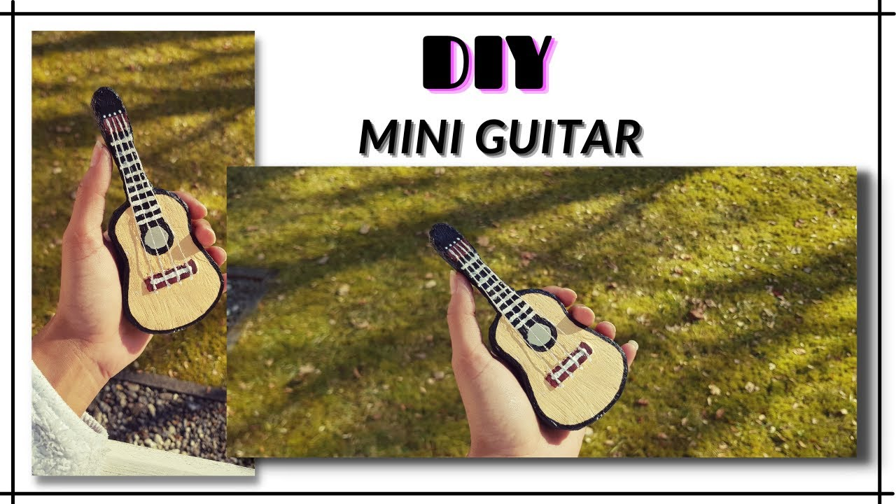 DIY Cardboard Idea | Miniature Guitar | Cardboard Craft | DIY Mini Guitar