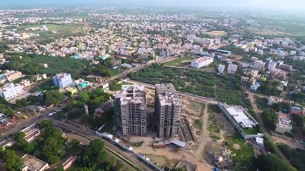 Aerial Film Of A Real Estate Building In Madurai