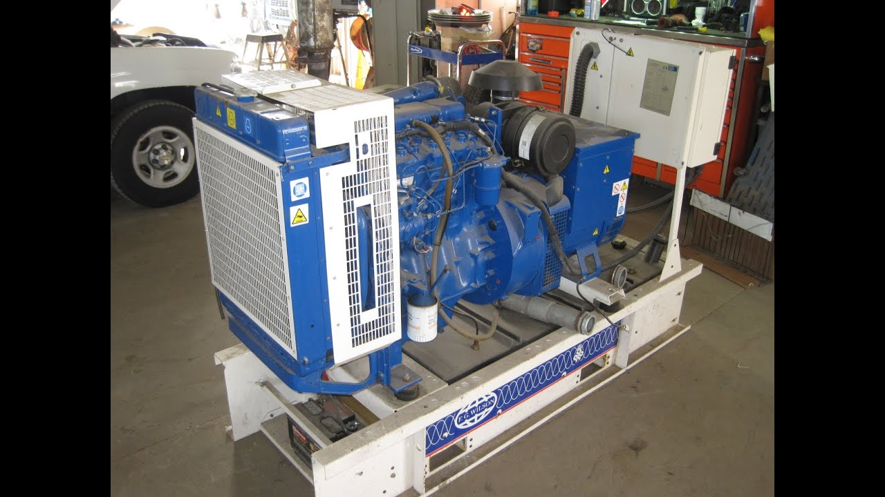 FG Wilson 40KW 208 120 V sel generator perkins power 204 hrs