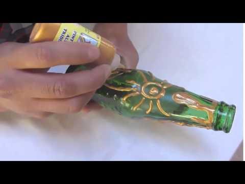 Manualidades como hacer un florero con una botella de - Manualidades con botellas de cristal ...