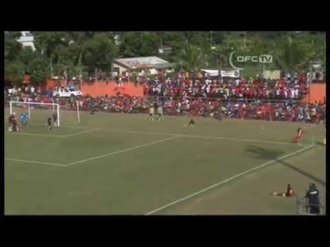 2014 OFC Champions League - Final 1st Leg - Amicale FC vs Auckland City FC Highlights