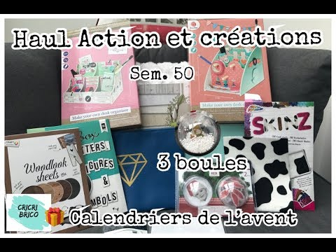 Action: Haul tests 3 créations Scrapbooking Sem.50 Calendrier de l'avent