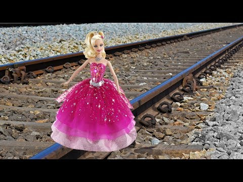Train Vs Barbie Girl Doll EXPERIMENT