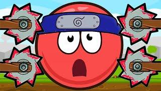 КРАСНЫЙ ШАРИК ниндзя спасает ЛЮБИМУЮ принцессу. 5-8 уровни. Мультик ИГРА Red Ball Hero Ninja 4