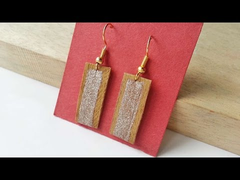 How To Create Earrings From Scrap Wood - DIY Style Tutorial - Guidecentral