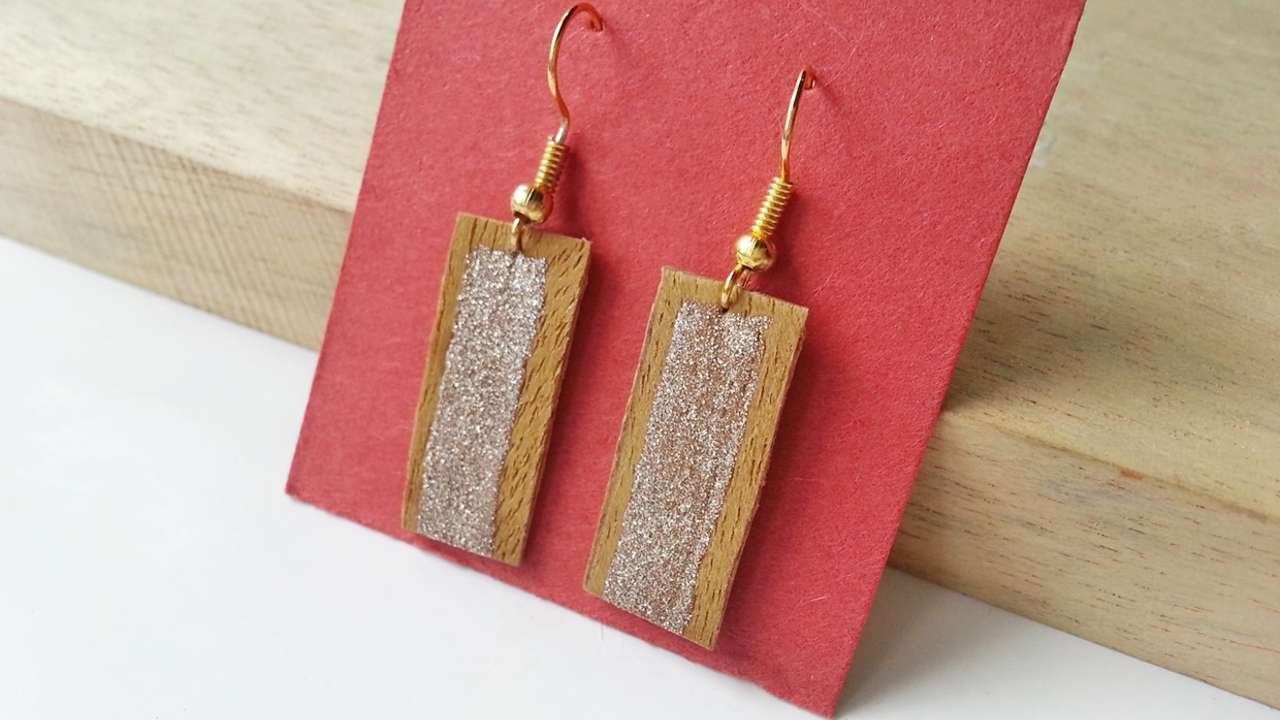 How To Create Earrings From S Wood Diy Style Tutorial